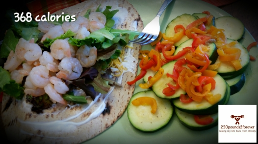 Shrimp Wrap with Zucchini and Sweet Peppers