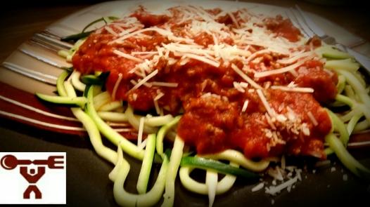 Spaghetti on Zucchini Noodles